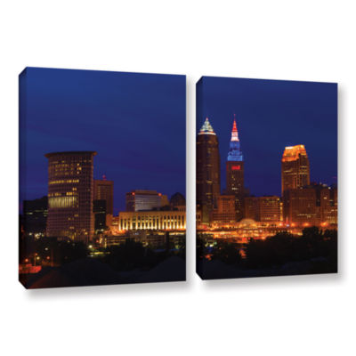 Brushstone Cleveland 5 2-pc. Gallery Wrapped Canvas Wall Art