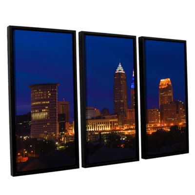 Brushstone Cleveland 5 3-pc. Floater Framed CanvasWall Art