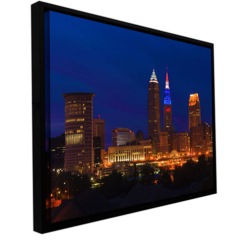 Brushstone Cleveland 5 Gallery Wrapped Floater-Framed Canvas Wall Art