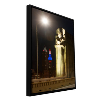 Brushstone Cleveland 6 Gallery Wrapped Floater-Framed Canvas Wall Art