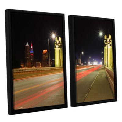 Brushstone Cleveland 7 2-pc. Floater Framed CanvasWall Art