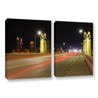 Brushstone Cleveland 7 2-pc. Gallery Wrapped Canvas Wall Art