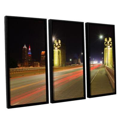 Brushstone Cleveland 7 3-pc. Floater Framed CanvasWall Art