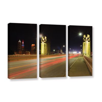 Brushstone Cleveland 7 3-pc. Gallery Wrapped Canvas Wall Art