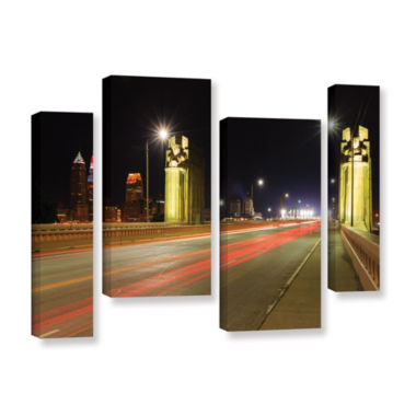 Brushstone Cleveland 7 4-pc. Gallery Wrapped Staggered Canvas Wall Art