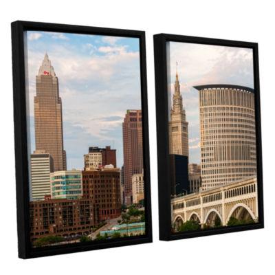 Brushstone Cleveland 9 2-pc. Floater Framed CanvasWall Art