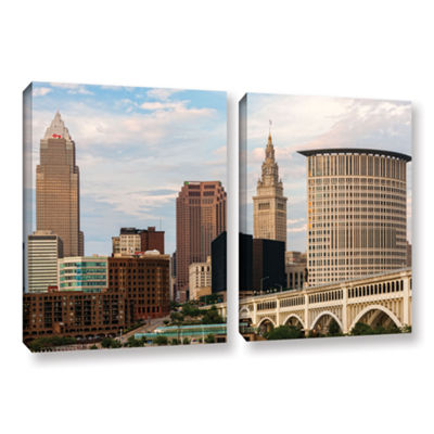 Brushstone Cleveland 9 2-pc. Gallery Wrapped Canvas Wall Art