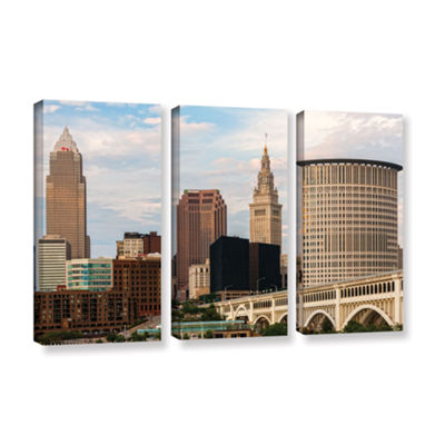 Brushstone Cleveland 9 3-pc. Gallery Wrapped Canvas Wall Art