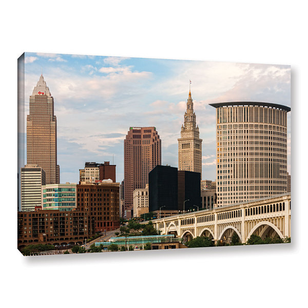 Brushstone Cleveland 9 Gallery Wrapped Canvas WallArt