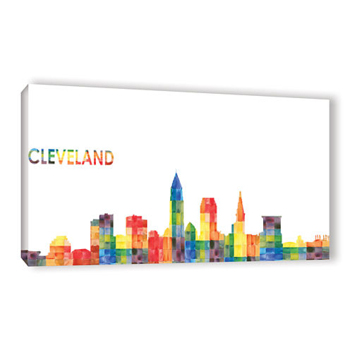 Brushstone Cleveland (Checkered) Gallery Wrapped Canvas Wall Art