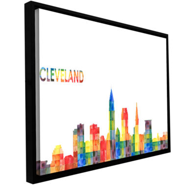 Brushstone Cleveland (Checkered) Gallery Wrapped Floater-Framed Canvas Wall Art