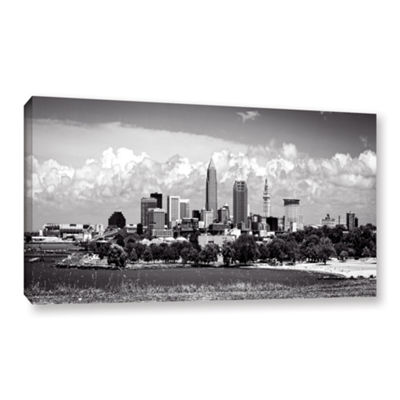 Brushstone Cleveland Panorama 1 Gallery Wrapped Canvas Wall Art