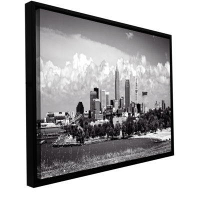 Brushstone Cleveland Panorama 1 Gallery Wrapped Floater-Framed Canvas Wall Art