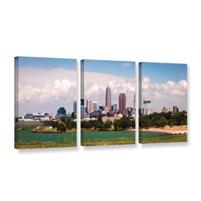 Brushstone Cleveland Panorama 2 3-pc. Gallery Wrapped Canvas Wall Art