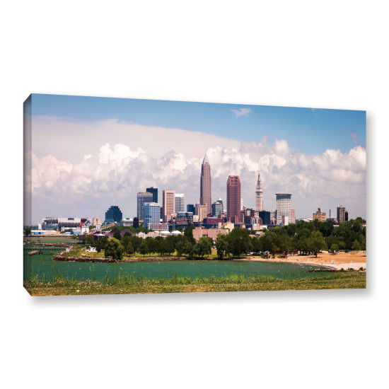 Brushstone Cleveland Panorama 2 Gallery Wrapped Canvas Wall Art