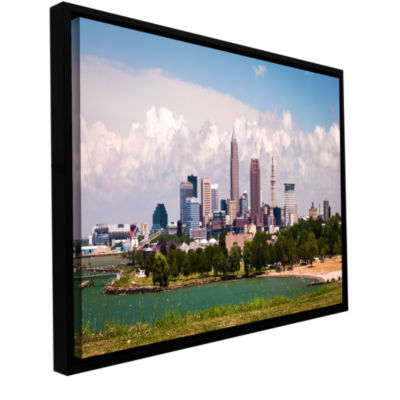 Brushstone Cleveland Panorama 2 Gallery Wrapped Floater-Framed Canvas Wall Art