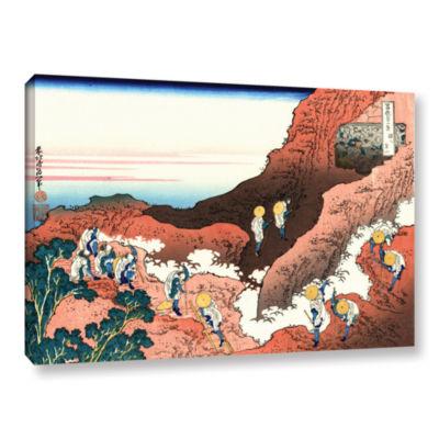 Brushstone Climbing On Mt. Fuji Gallery Wrapped Canvas Wall Art