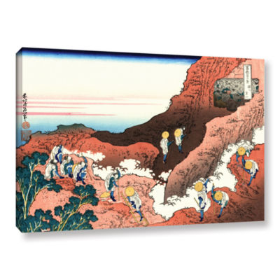 Brushstone Climbing On Mt. Fuji Gallery Wrapped Canvas Wall Art