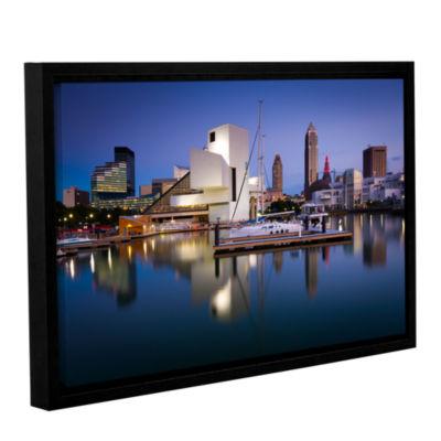 Brushstone Cleveland Skyline 1 Gallery Wrapped Floater-Framed Canvas Wall Art
