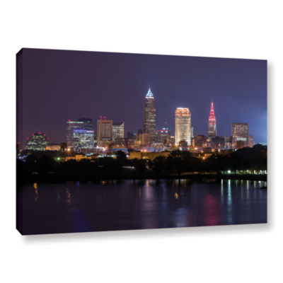 Brushstone Cleveland Skyline 10 Gallery Wrapped Canvas Wall Art