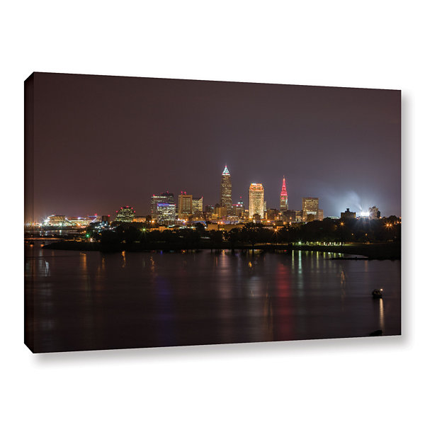 Brushstone Cleveland Skyline 11 Gallery Wrapped Canvas Wall Art