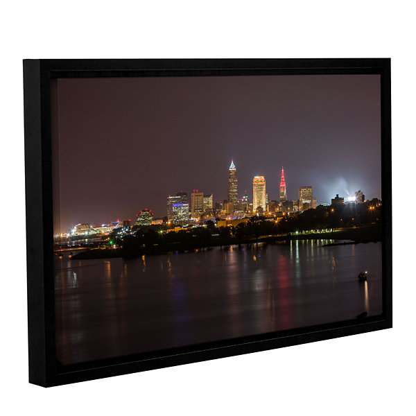 Brushstone Cleveland Skyline 11 Gallery Wrapped Floater-Framed Canvas Wall Art