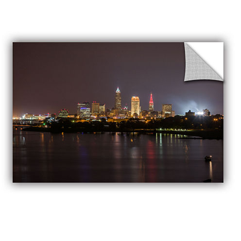 Brushstone Cleveland Skyline 11 Removable Wall Decal