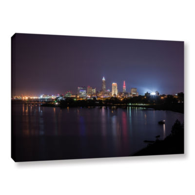 Brushstone Cleveland Skyline 12 Gallery Wrapped Canvas Wall Art