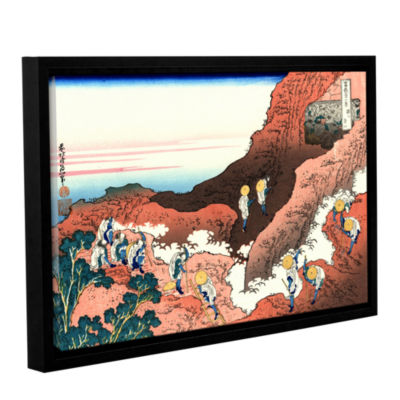 Brushstone Climbing On Mt. Fuji Gallery Wrapped Floater-Framed Canvas Wall Art