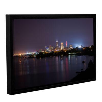 Brushstone Cleveland Skyline 12 Gallery Wrapped Floater-Framed Canvas Wall Art