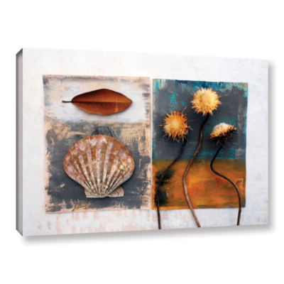 Brushstone Conch- Magnolia- Thistle Gallery Wrapped Canvas Wall Art