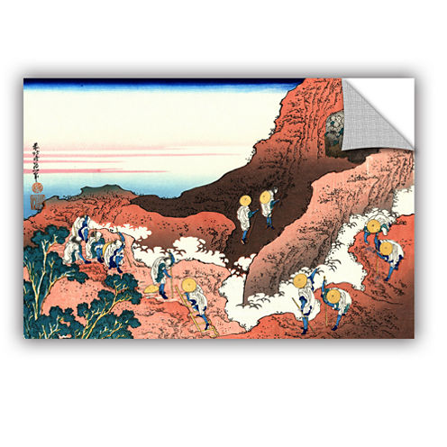 Brushstone Climbing On Mt. Fuji Removable Wall Decal