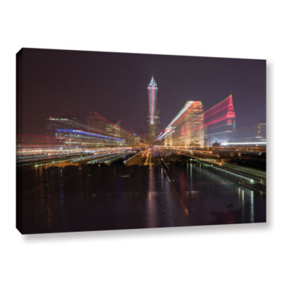Brushstone Cleveland Skyline 13 Gallery Wrapped Canvas Wall Art