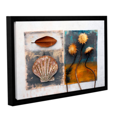 Brushstone Conch Magnolia Thistle Gallery WrappedFloater-Framed Canvas Wall Art