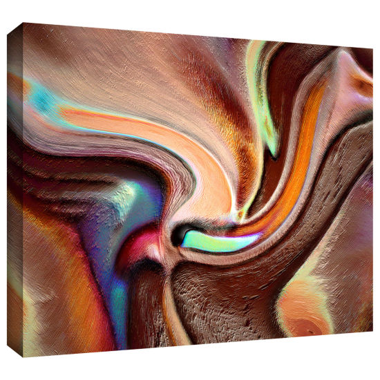 Brushstone Confluence Gallery Wrapped Canvas WallArt