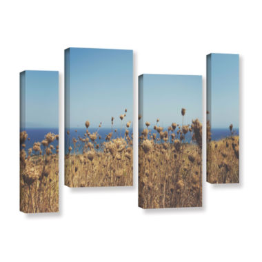 Brushstone Close Up Field 4-pc. Gallery Wrapped Staggered Canvas Wall Art