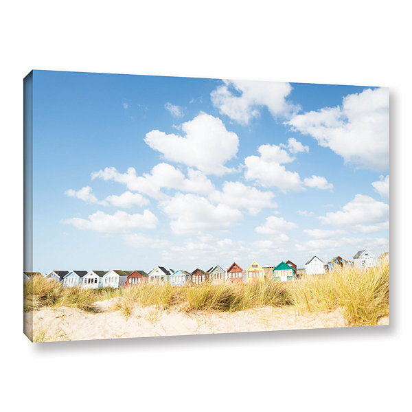 Brushstone Cloudhuts01 Gallery Wrapped Canvas WallArt