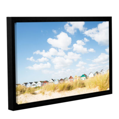 Brushstone Cloudhuts01 Gallery Wrapped Floater-Framed Canvas Wall Art