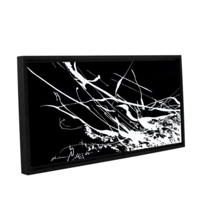 Brushstone Contrasting Gallery Wrapped Floater-Framed Canvas Wall Art