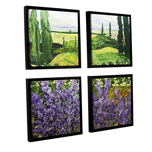 Brushstone Chinaberry Hill 4-pc. Square Floater Framed Canvas Wall Art
