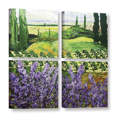 Brushstone Chinaberry Hill 4-pc. Square Gallery Wrapped Canvas Wall Art