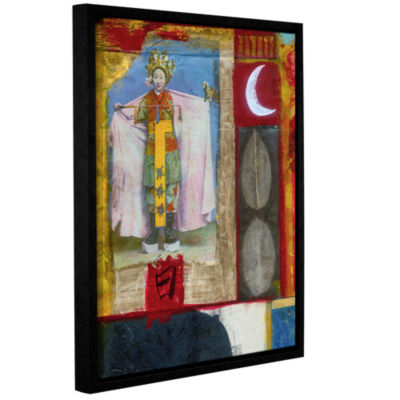 Brushstone Chinese Moon Queen Gallery Wrapped Floater-Framed Canvas Wall Art