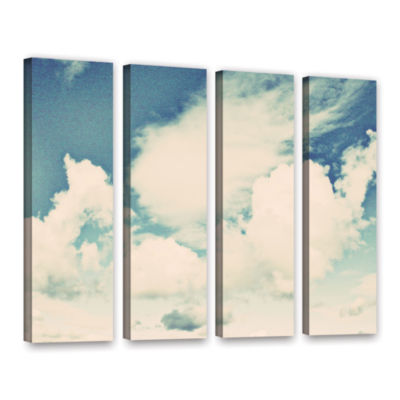 Brushstone Clouds On A Beautiful Day 4-pc. GalleryWrapped Canvas Wall Art
