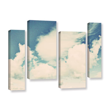 Brushstone Clouds On A Beautiful Day 4-pc. GalleryWrapped Staggered Canvas Wall Art