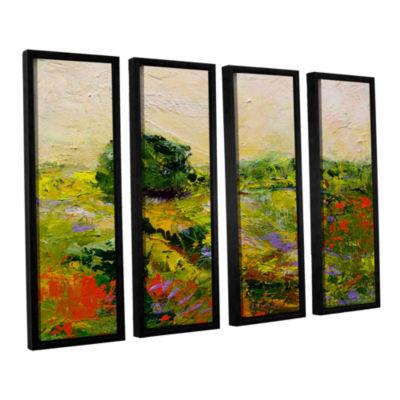Brushstone Chippenham 4-pc. Floater Framed CanvasWall Art