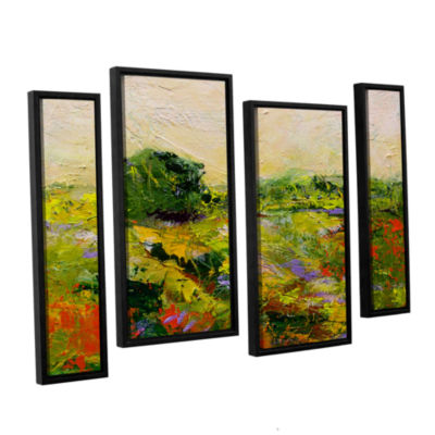 Brushstone Chippenham 4-pc. Floater Framed Staggered Canvas Wall Art