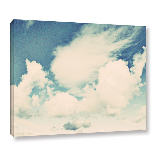 Brushstone Clouds On A Beautiful Day Gallery Wrapped Canvas Wall Art