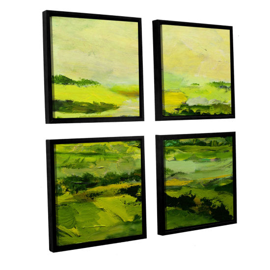 Brushstone Chipping Norton 4-pc. Square Floater Framed Canvas Wall Art
