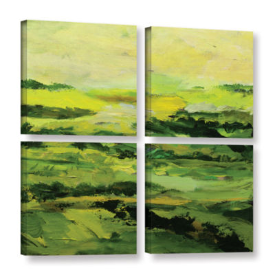 Brushstone Chipping Norton 4-pc. Square Gallery Wrapped Canvas Wall Art