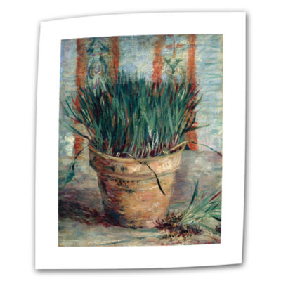 Brushstone Chives Canvas Wall Art